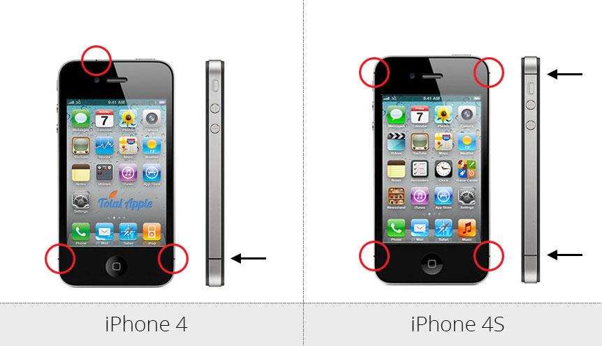 Как отличить iPhone 4 от iPhone 4S - фото 1 | Сервисный центр Total Apple