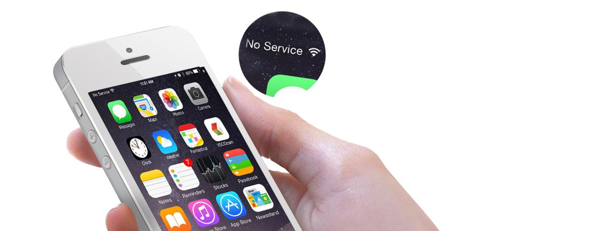 iPhone не ловит сигнал сети - service-iphone.ru